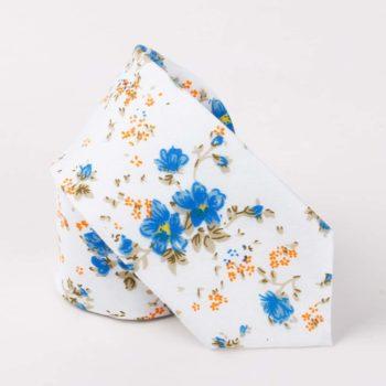 Corbata Estampada con Flores Azules - JV Legacy