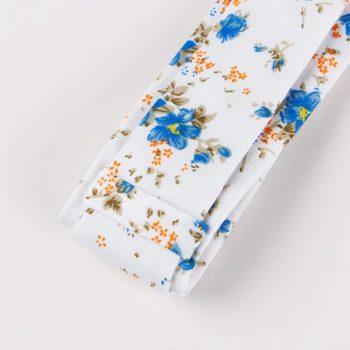 Corbata Estampada con Flores Azules reverso - JV Legacy