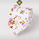 Corbata Estampada con Flores Lilas