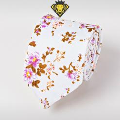 Corbata Estampada con Flores Lilas - JV Legacy