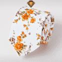 Corbata Estampada con Flores Naranjas