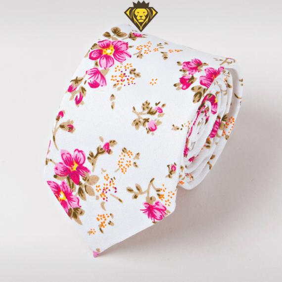 corbata estampada con flores rosadas accesorios para hombres