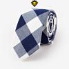 Corbata de cuadros – Blanca con Azul Marino