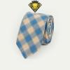 Corbata de cuadros – Caqui con Azul
