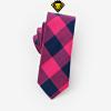 Corbata de cuadros – Fucsia con Azul Marino