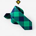 Corbata de cuadros – Verde con Azul Marino
