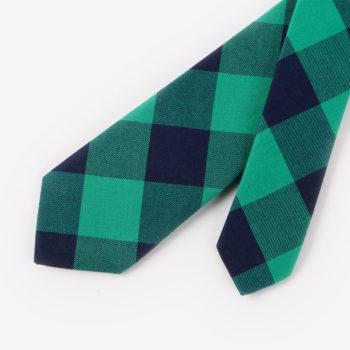 Corbata de cuadros - verde y azul marino puntas - JVLegacy