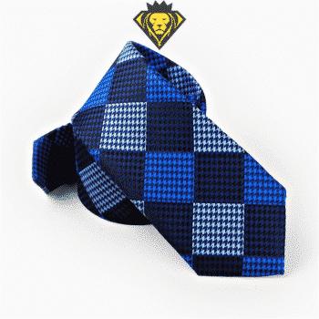 Corbata para Caballero de Cuadros Color Azul