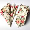 Set de Corbata y Pañuelo - Beige Flower - JV Legacy